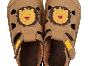 tikki barefoot sandalky pre deti nido leo lion