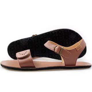 vibe barefoot damske sandale infinity brown