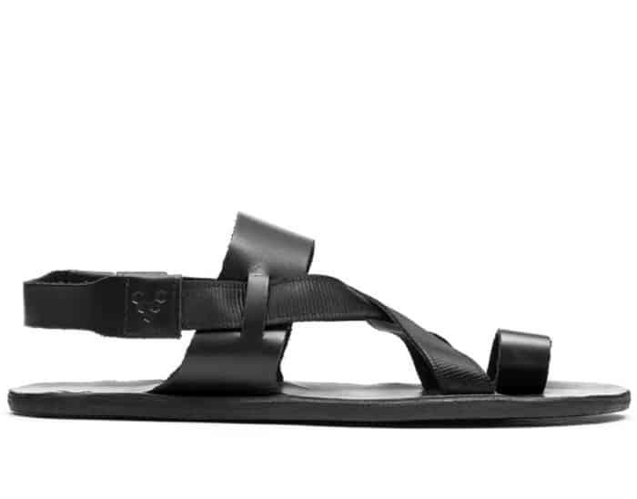 vivobarefoot kuru sandal w obsidian black