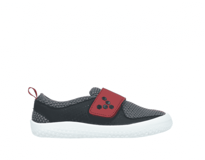 vivobarefoot mini primus k mesh black red