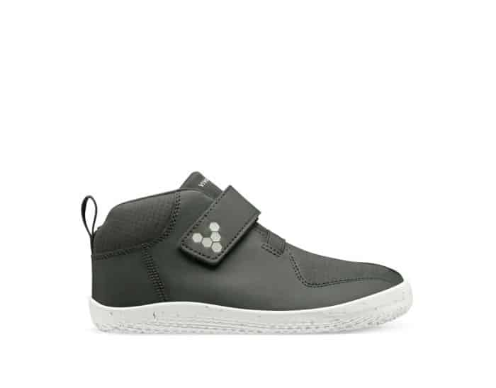 vivobarefoot barefoot tenisky primus bootie all weather kids charcoal textile