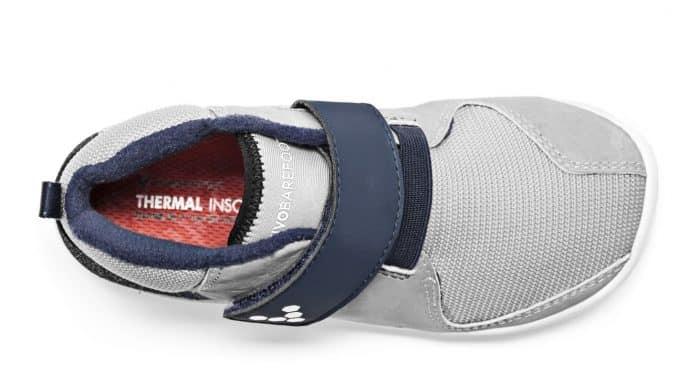 vivobarefoot primus bootie k grey navy
