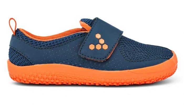 vivobarefoot primus kids k navy orange