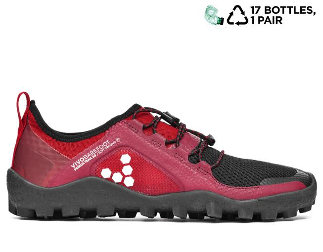 vivobarefoot primus trail sg mesh black red