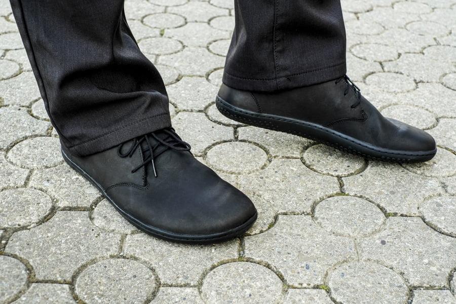 Pánske elegantné topánky - Vivobarefoot RA II M BLACK LEATHER. Barefoot aj k obleku. 1
