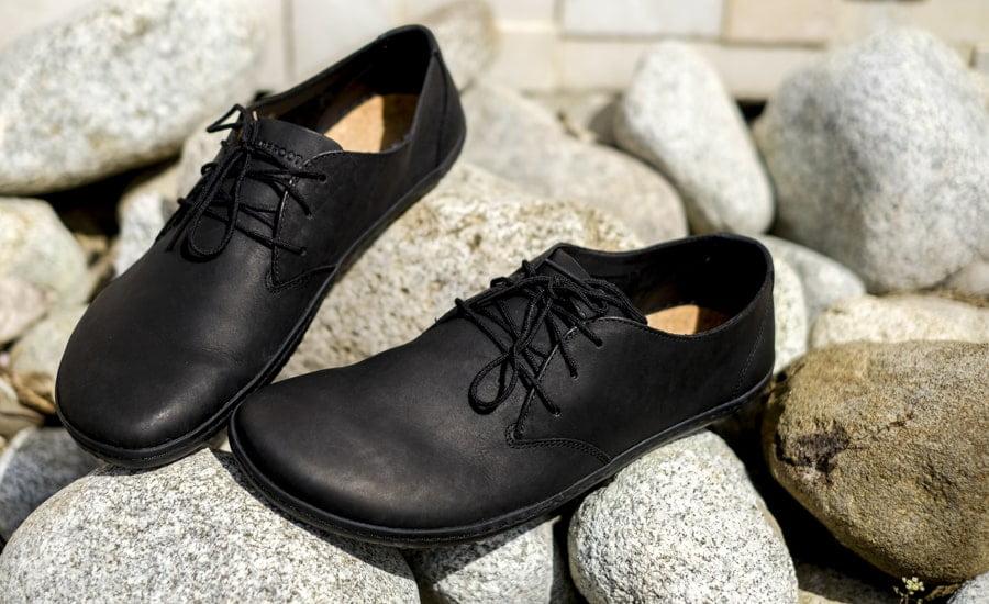 Pánske elegantné topánky - Vivobarefoot RA II M BLACK LEATHER. Barefoot aj k obleku. 3