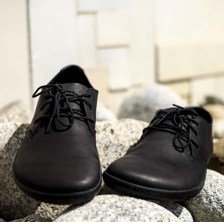 Pánske elegantné topánky - Vivobarefoot RA II M BLACK LEATHER. Barefoot aj k obleku. 4